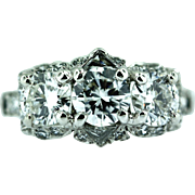 "Vintage ""Birks Ellis"" Platinum and Diamond Ring"