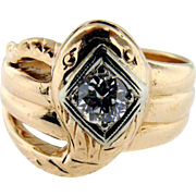 Late Victorian 14KT Yellow Gold Snake Ring