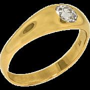 Old European Cut .90 ct Gentleman's Ring