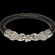 1993 B.Kieselstein-Cord Aligator Head Sterling Necklace