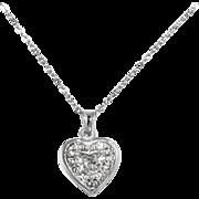 Vintage .72 ct D colour Heart Shape Diamond