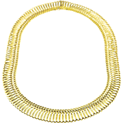 Delicate French Gold Collar Necklace