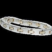 SOLD Tiffany & Co. Silver Gold Bracelet