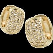 Vintage Gold and Diamond Huggies