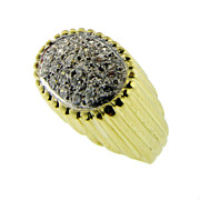 SALE Vintage 18kt Yellow Gold Diamond Ring