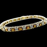 Vintage Custom Made Yellow Gold and Diamond Tennis Bracelet