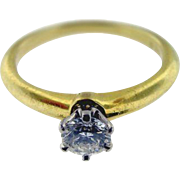 Vintage Tiffany & Co. 18KT Yellow Gold Solitaire