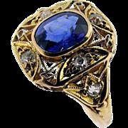 Handmade Edwardian Sapphire Ring