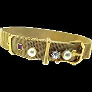Vintage Handmade Belt Bracelet