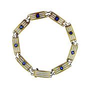 SALE Fine Enameled Art Deco Gold Bracelet