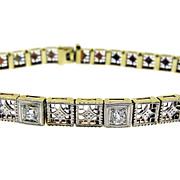 Art Deco Gold and Diamond Bracelet