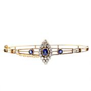 Edwardian Sapphire and Diamond Bangle