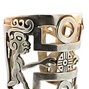 SALE Vintage Taxco Mexican Silver Bracelet