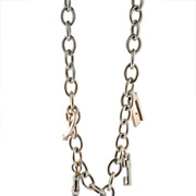 SALE Gucci Sterling Charm Necklace