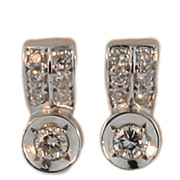 "18KT White Gold ""F-G"" Colour Diamond Earrings"