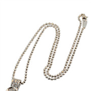 "18KT White Gold, Custom Made ""F"" Colour .78 Diamond Necklace"