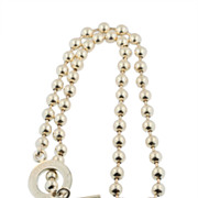 SALE Gucci Sterling Silver Ball and Toggle Necklace