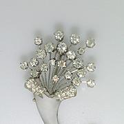 Vintage Art Deco Rock Crystal and Diamond Brooch