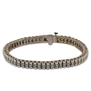 14 KT White Gold and Diamond Tennis Bracelet