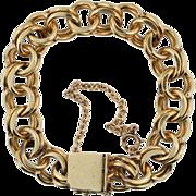 Classic Vintage 14 KT Yellow Gold Charm Bracelet