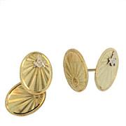 SALE Vintage 14 KT Yellow Gold Masonic Cufflinks