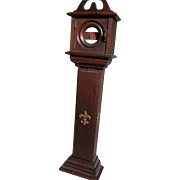 Wood Pocket Watch Display Holder Case made like a Grandfathers Clock
