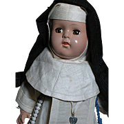 Vintage Nun Doll on Composition Body  Religious Habit of the Sisters of the Good Shepard
