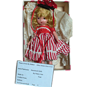 Vintage Nancy Ann Storybook Bisque Doll  Alice Sweet Alice She Looks Fine and Dandy #122 .