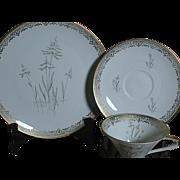 Vintage Seltmann Weiden Bavaria Marked with Crown   Cup  Saucer Desert Plate Set