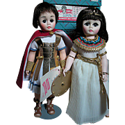 Madame Alexander Dolls  Cleopatra and  Marc Antony Portraits of History Series