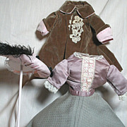 Wonderful French Fashion or China Head doll 4 Piece Outfit