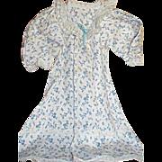 "Large Jumeau blue & White original Dress  19"" long"