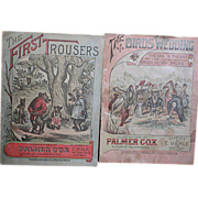 Two Palmer Cox Primers Birds Wedding & First Trousers 1897