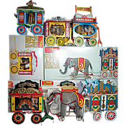 Steiff Golden Age of The Circus Wagons with Animals Set of 5 in boxes with ...