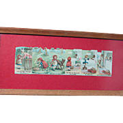 "Vintage Little Red Riding Hood Embossed Color Pictures  Framed in glass 12.5 "" by 5 ..."