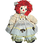 "SOLD Vintage Raggedy Ann  Doll Large  Well Dressed & Home made 26"" tall"