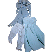 Beautiful Blue Dress Outfit plus  Slip &  Pantaloons for China or Various Dolls