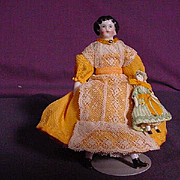 SALE PENDING Doll House Size China With Doll