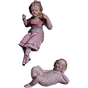 REDUCED Victorian Swinger And Reclining Child