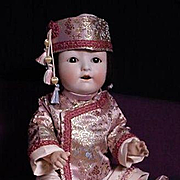 SALE PENDING Oriental Child With bisque Head