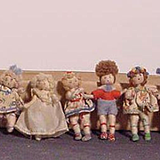 SALE PENDING Cloth Grecon Characters With Metal Feet