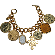 Carolyn Roehm Vintage Designer Chunky Charm Bracelet