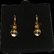 Crystal Ball Pools of Light Style Earrings Joan Rivers