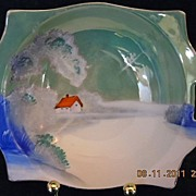 "Vintage 1921-1940 Noritake ""M"" Porcelain hand painted Scenic Art Bowl"