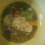 Vintage Childs Baby Bowl Unusual Nursery Rhyme