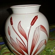 SALE ON SALE Vintage Porcelain hand Painted Bavaria Schumann Handmalereis wheat Vase