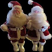 Two Vintage CHRISTMAS Santa father xmas St.Nick