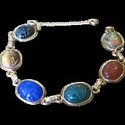 Vintage Multi stone Scarab bracelet