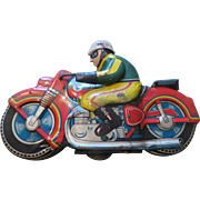 Vintage Tin Motorcycle Toy ~ Japan