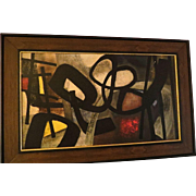 Vintage Abstract Fritz Winters 1953 Rare Print in Original frame